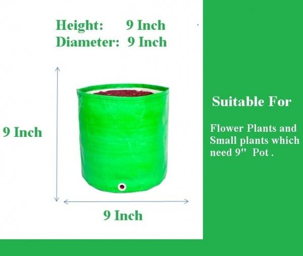 HDPE Grow Bags 9*9 Inch