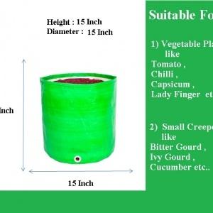 HDPE Grow Bag 15x15 Inch