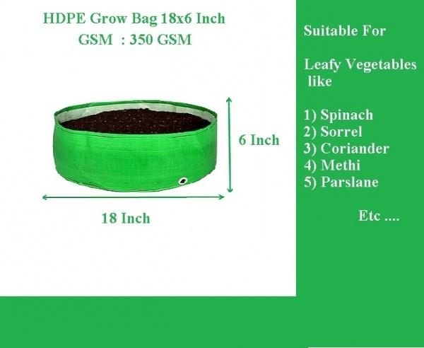HDPE Grow Bag 18X6 Inch