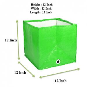 HDPE Grow Bag 12x12x12 Inch (Square)