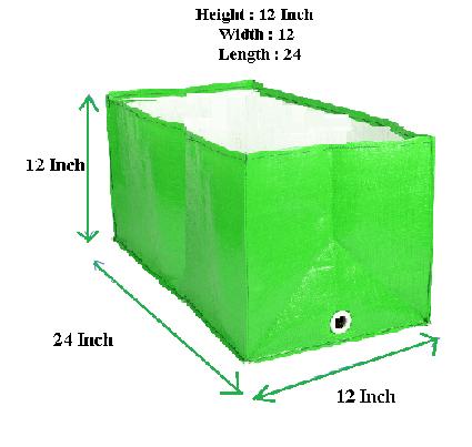 HDPE Grow Bag 24x12x12 Inch | Rectangular Grow Bag